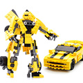WMX 8711 221pcs Movie Series Building Blocks Model Toys Robot 2 In 1 Vehicle Sports Car Compatible With major brand blocks