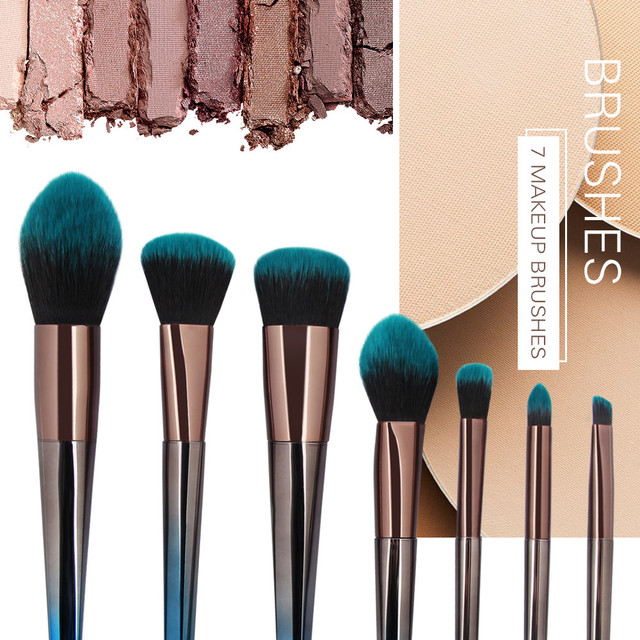 Fashion Girl Single Product 7pcs Cosmetic Makeup Brush Blusher Eye Shadow Brushes Set Kit Pincel de maquiagem zsmw