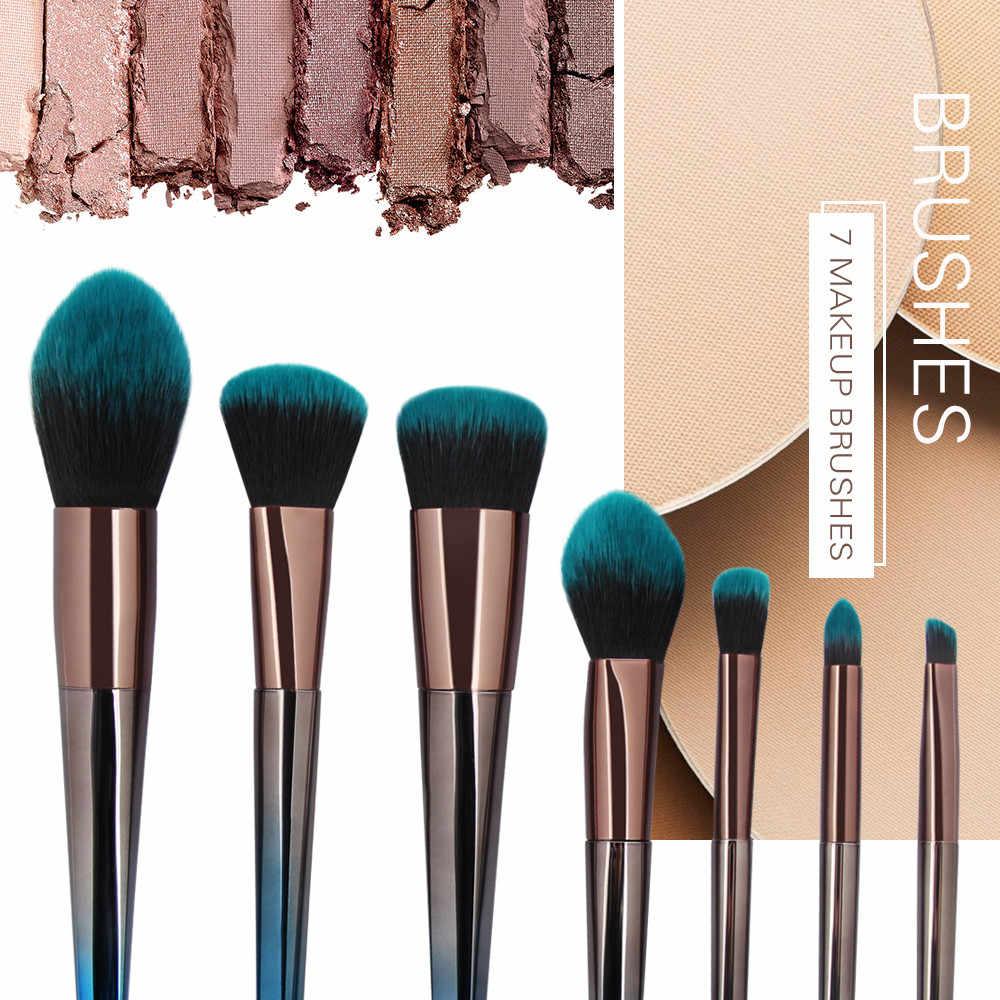 Moda dziewczyna pojedynczy produkt 7 sztuk kosmetyczne Makeup muśnięcie róż do policzków cień do powiek zestaw pędzelków Pincel de maquiagem zsmw