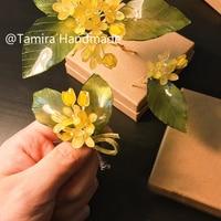 Handmade Ograniczona Jesień osmantusa Szpilka shrink dink jewery CA2