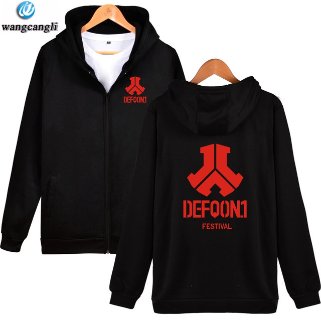US $13 77 19% OFF|Aliexpress com : Buy 2019 Defqon 1 Spring Autumn New  Style Zipper Hoodies Men /Women Cap DJ Music Festival Rocking Hoodie  Sweatshirt