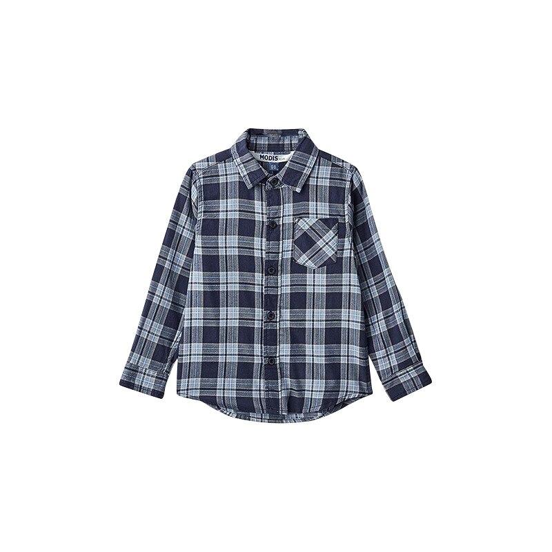 Blouses & Shirts MODIS M182K00073 for boys kids clothes children clothes TmallFS plus collar knot blouses