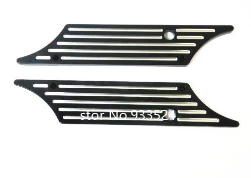 Moto noir bord coupé CNC Billet dur sacoche housse de verrouillage pour Harley 93-13 Touring