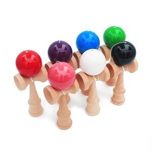 Image 5 - משלוח חינם צעצועי עץ חיצוני ספורט צעצוע כדור Kendama כדור PU צבע 18.5cm מחרוזות מקצועי למבוגרים צעצועי פנאי ספורט