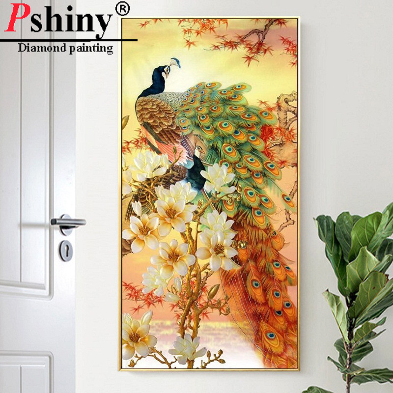 New DIY Special Diamond Embroidery Sale Lucky Peacock pictures of rhinestones non full Mosaic Animals paintings from crystals