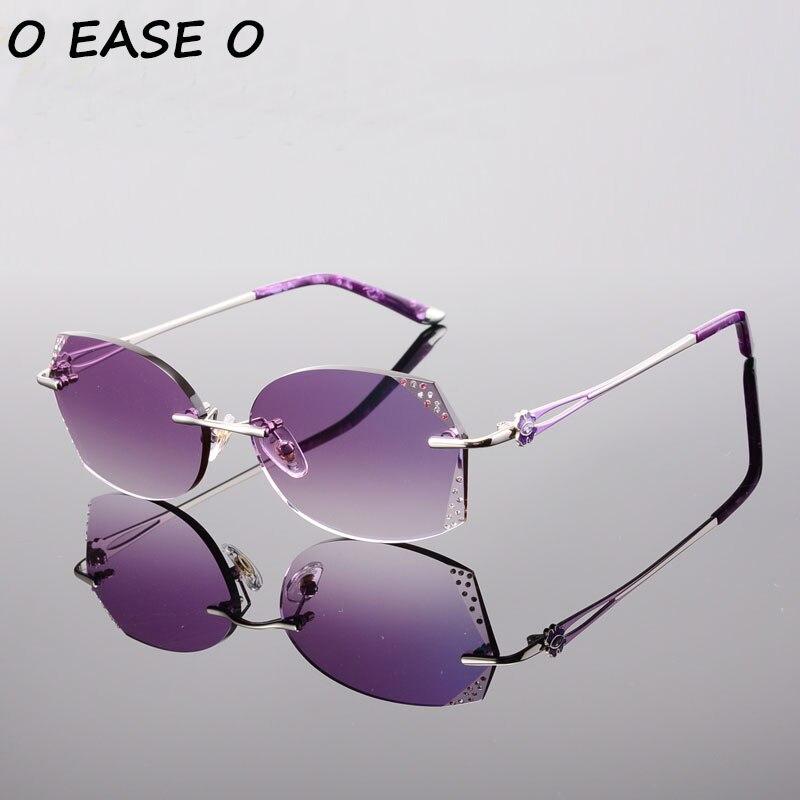 Sem Aro 2017 Óculos De Sol Das Mulheres do Sexo Feminino de Alta Qualidade  Da Liga e Acetato Óculos De Sol Com 1.61 Lentes Asféricas Óculos Escuros  58061 6d9fba9812