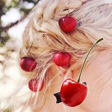 Новое поступление(4 шт) женские милые заколки-Вишенки Модные женские милые заколки для волос аксессуары для волос