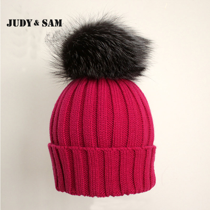60e88ded9 16 Colors Wool Blend Boys and Girls Winter Hats with Genuine Silver ...