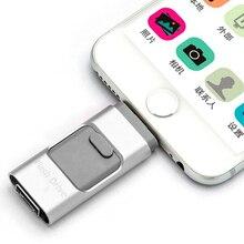 Золото серебро otg usb flash drive для iphone 6/5 ipad молния флэш-накопитель 8 г 16 ГБ 32 ГБ 64 ГБ Flash Driver Micro usb