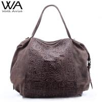 Walk arrive hakiki deri kadın çanta omuz çantası marka tasarım oracle kabartmalı deri tote çanta moda çanta
