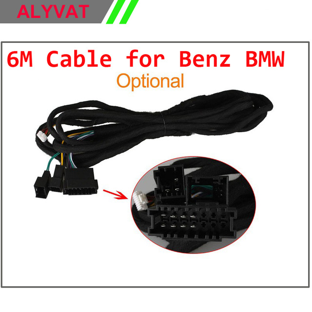 special extra long iso wiring harness 6m cable for benz bmw e38 e39, e46,