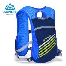 Aonijie 5.5l deporte de bolsa con 2 unid 250 ml botellas al aire libre ciclismo mochila riding bike senderismo packsack mochila de camping