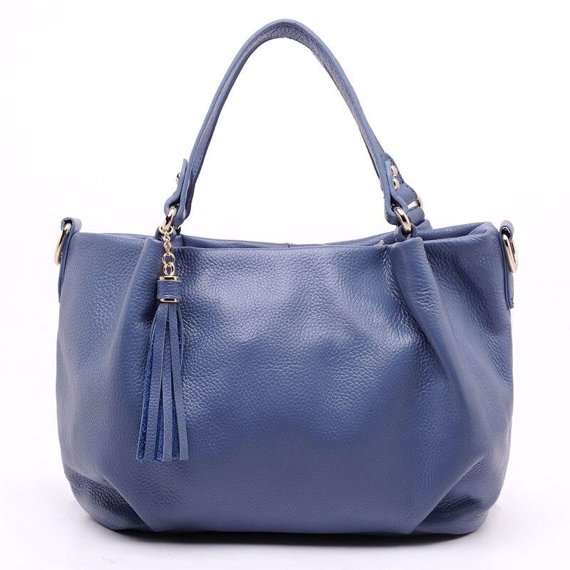 High quality Soft Genuine Leather Lady Womens Handbag Shoulder+Tote+Messenger Bag, with Long Shoulder strap, Factory Price