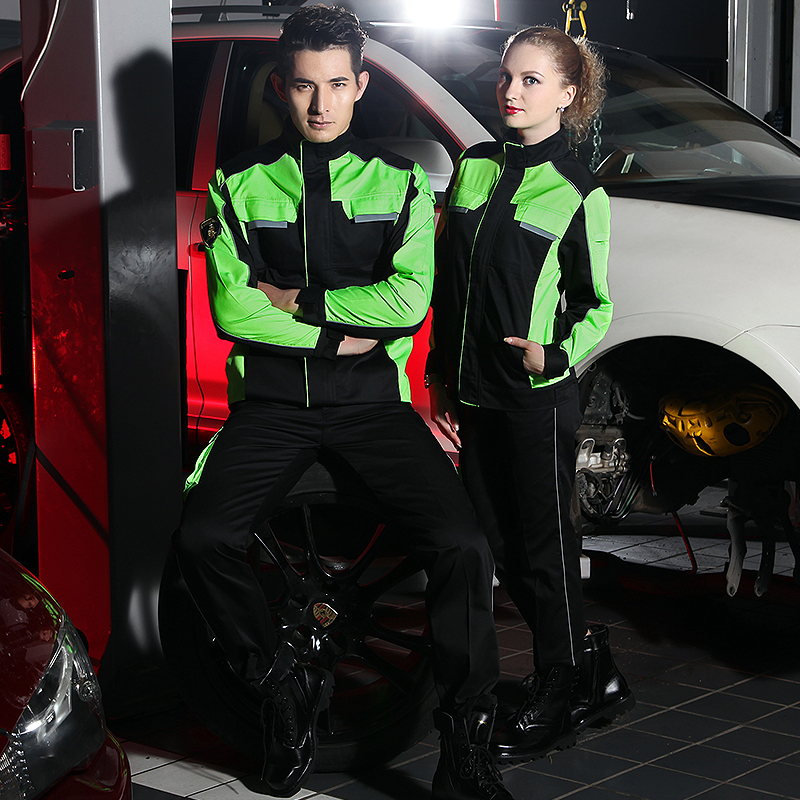 SET OF COAT+PANTS 4S car service uniform auto repair uniform machine mechanic working coat ...