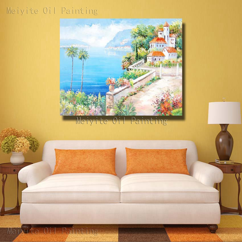 Light Blue Sea Landscape Wall Painting Beautiful Nature Landscape ...