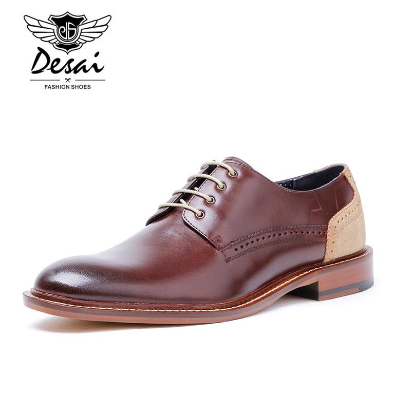 Top Quality Genuine Leather Dress Shoes Men Oxfords Shoes Form Men Formal Shoes Lace Up