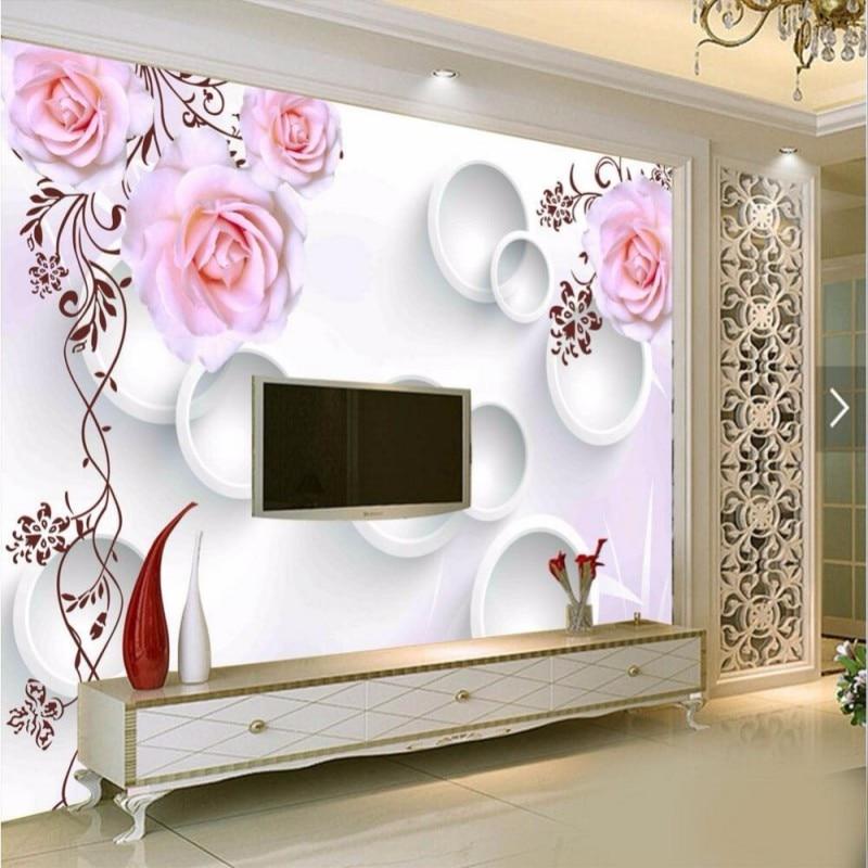 Popular Pink Circle Wallpaper-Buy Cheap Pink Circle Wallpaper Lots From China Pink Circle