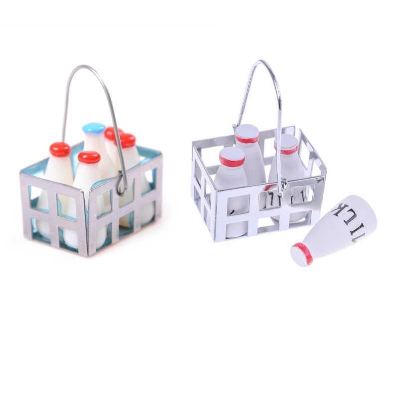 1:12 Mini jedzenie mleko koszyk na chleb/warzywa kosz/piknik symulacja miniatury dla lalek ozdoby do domu zabawki dla dzieci prezent