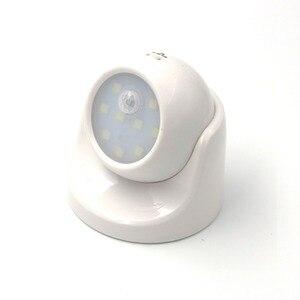 Image 2 - الأمن 9 LED Led محس حركة ليلة الجدار الخفيفة 360 درجة دوران السيارات PIR الأشعة تحت الحمراء للكشف عن مصباح إضاءة ليلية للأطفال
