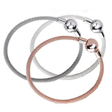Authentic original 100% 925 Sterling Silver Snake Chain Bangle Classic brand Bracelet Luxury Jewelry for girlfriend gift