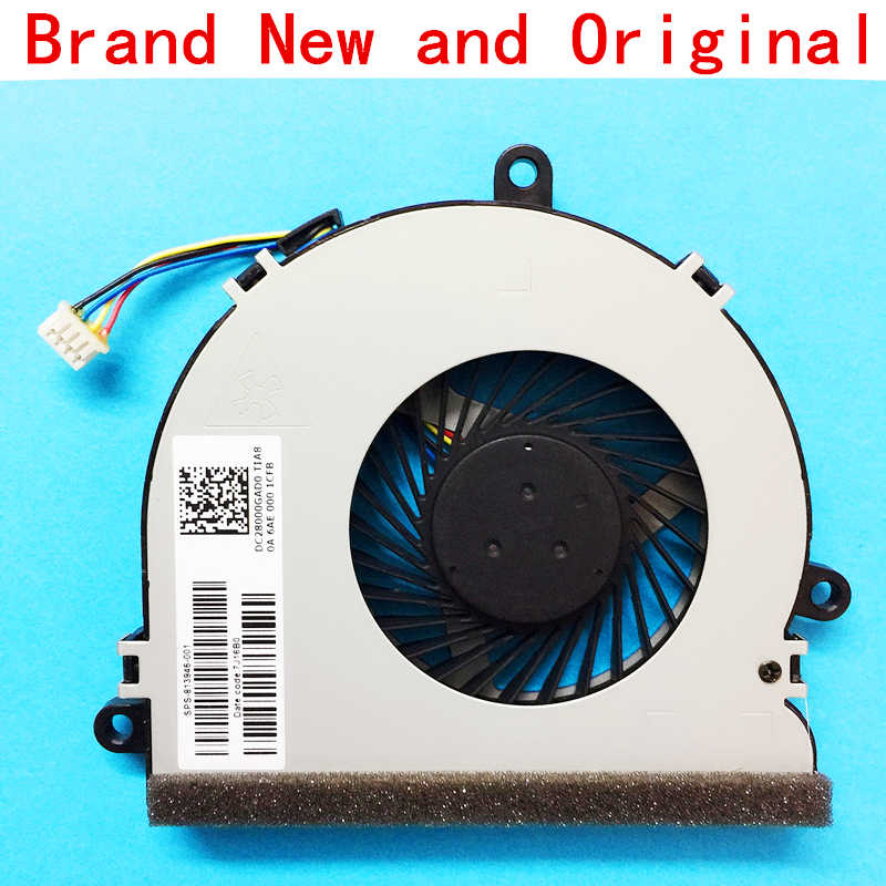 New Laptop CPU Cooling Fan Cooler Radiator Notebook untuk HP Notebook Seri DC28000GAF0 SPS-813946-001 FCN DFS561405FL0T Fgkb 6AH