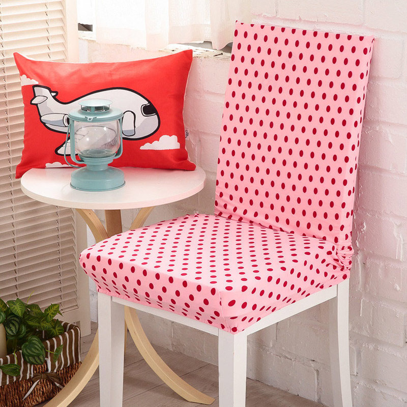 New 2017 Floral Print Red Dot Chair Cover Home Dining Covers Multifunctional Spandex Elastic Cloth