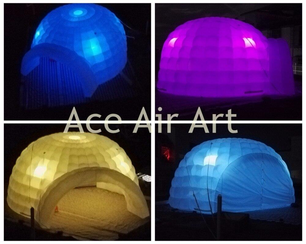 Красочные и Портативный надувной купол палатка с бесплатным Воздуходувы для Франции