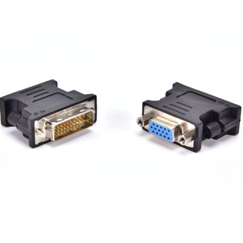 DVI 24+5 To VGA Adapter Cables Gold Plated Plug Male To Female HDMI To DVI Cable Converter 1080P For HDTV Projector Monitor