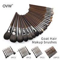 OVW натуральная козья шерсть кисточки для нанесения теней набор nabor kistey Crease смешивание кисти для хайлайтеры pinceaux maquillage kit