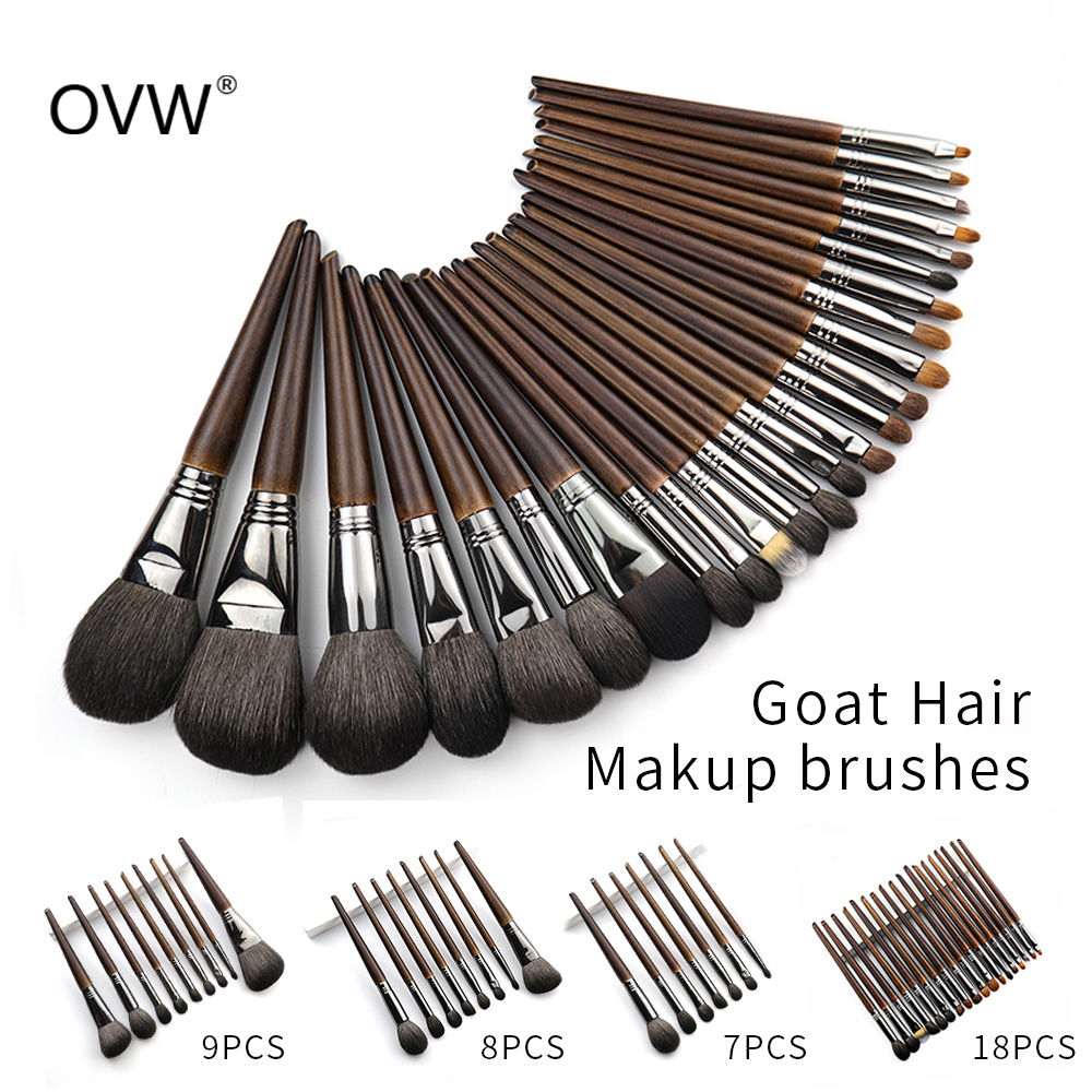 OVW naturel chèvre cheveux fard à paupières pinceaux de maquillage Set nabor kistey pli mélange mise en évidence pinceau pinceaux maquillage kit