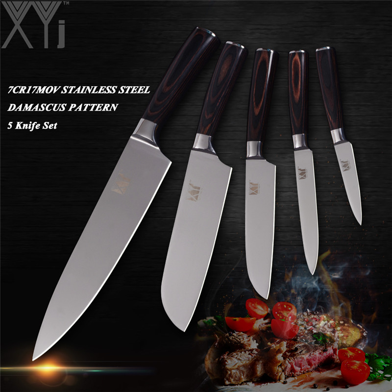 Enjoyable Us 21 18 80 Off Xyj Top Professional Kitchen Knife Set Stainless Steel Chef Sashimi Sushi Fish Vegetable Knife 7Cr17Mov Blade Pakka Wood Handle In Home Interior And Landscaping Ologienasavecom