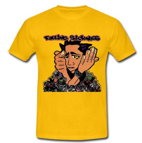 FALLING SICKNESS RIGHT ON TIME T-SHIRT TEE S M L XL 2XL PUNK BAND MUSTARD PLUG Men Summer Style