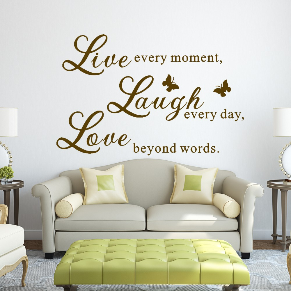 Live Love Laugh Love Wall Decals Art Mural Quote Lettering Living ...