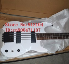 free shipping new Big John headless electric bass guitar in white with basswood body made in China  F-3034