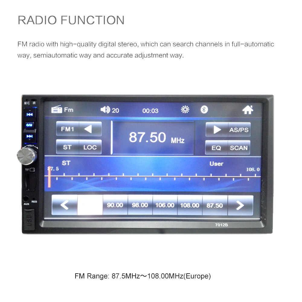 """7 """"HD сенсорный экран 12 в радио Автомагнитола Поддержка камеры заднего вида дистанционное управление Авторадио 2 Din аудио стерео Bluetooth"""