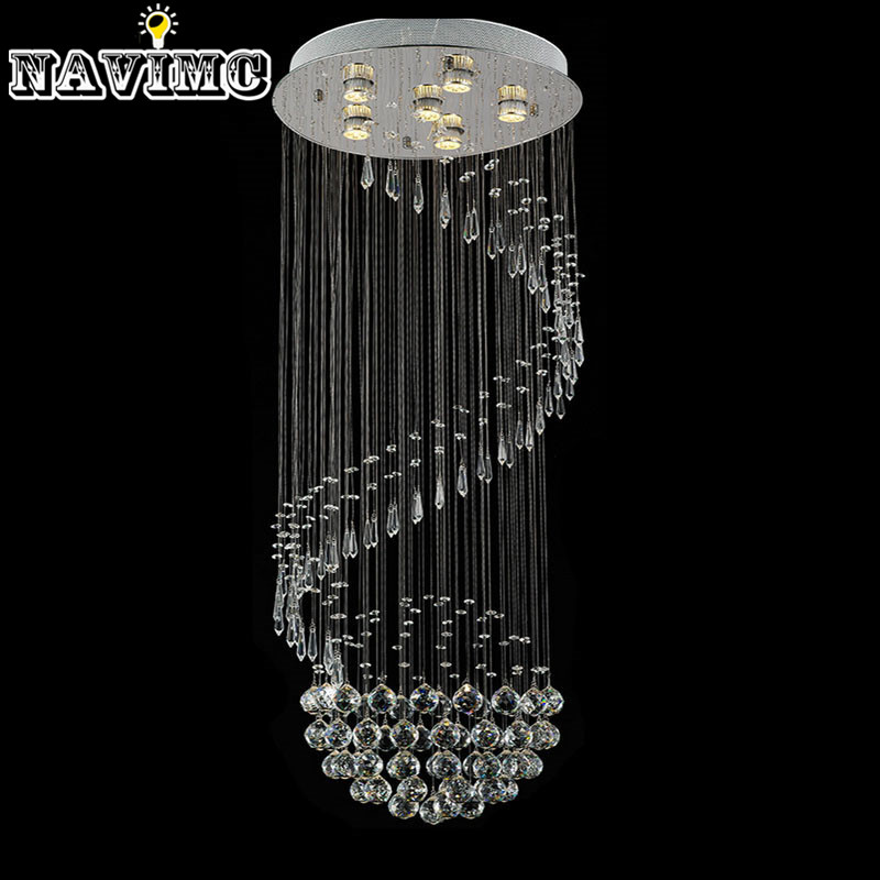 Ceiling Lamp Decorative: Decorative Crystal Ceiling Lamp Spiral Crystal Light