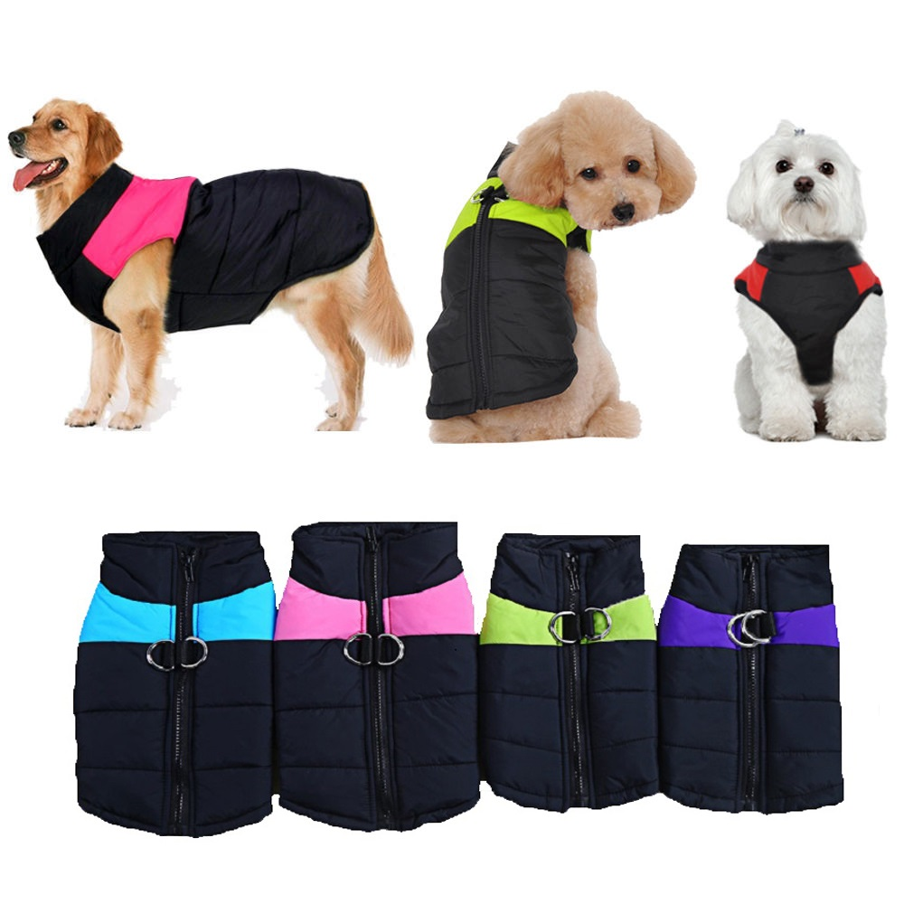 S 5XL 8 Size Avaliable Dog Clothes Coat Waterproof Pet Dog Puppy Vest Pubby Jacket Dog Raincoat Warm Winter clothing for dog