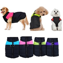 S-5XL 8 Size Avaliable Dog Clothes Coat Waterproof Pet Dog Puppy Vest Pubby Jacket Dog Raincoat Warm Winter clothing for dog