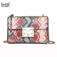 цены на BRIGGS animal print women shoulder bag ladies solid messenger bag female small handbag pu leather small flap crossbody bag purse в интернет-магазинах