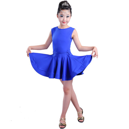 b37253865 Dropwow Girl short Sleeves Standard Latin Dance Dress Children ...