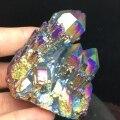 Aura cristal de quartzo cluster anjo aura natural quartzo cristal druzy geode espécime minerais reiki cura chakra