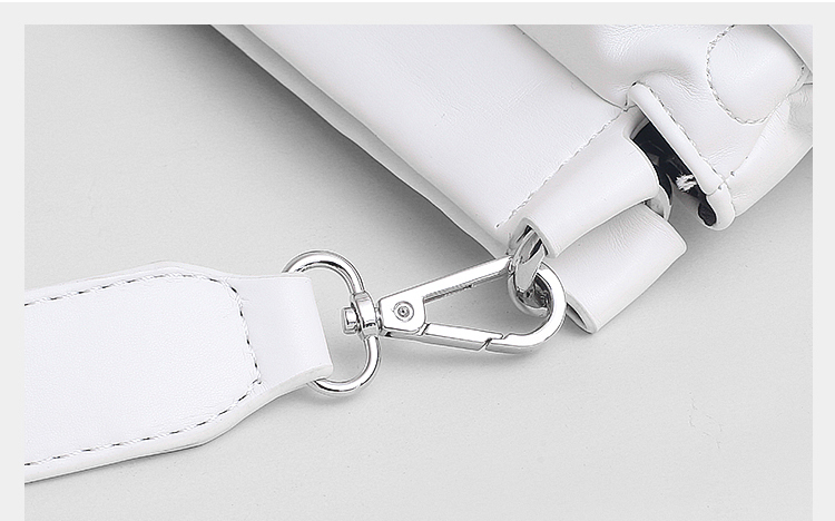 High quality Down Space Pillow Design Pu Leather Women Clutch Bag