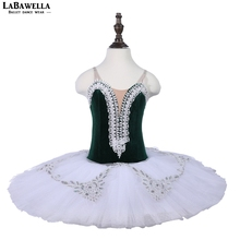Dark Green Performance ballerina stage wear children&kids 7layer tulle dance tutu costume adult ballet tutuBLST18073