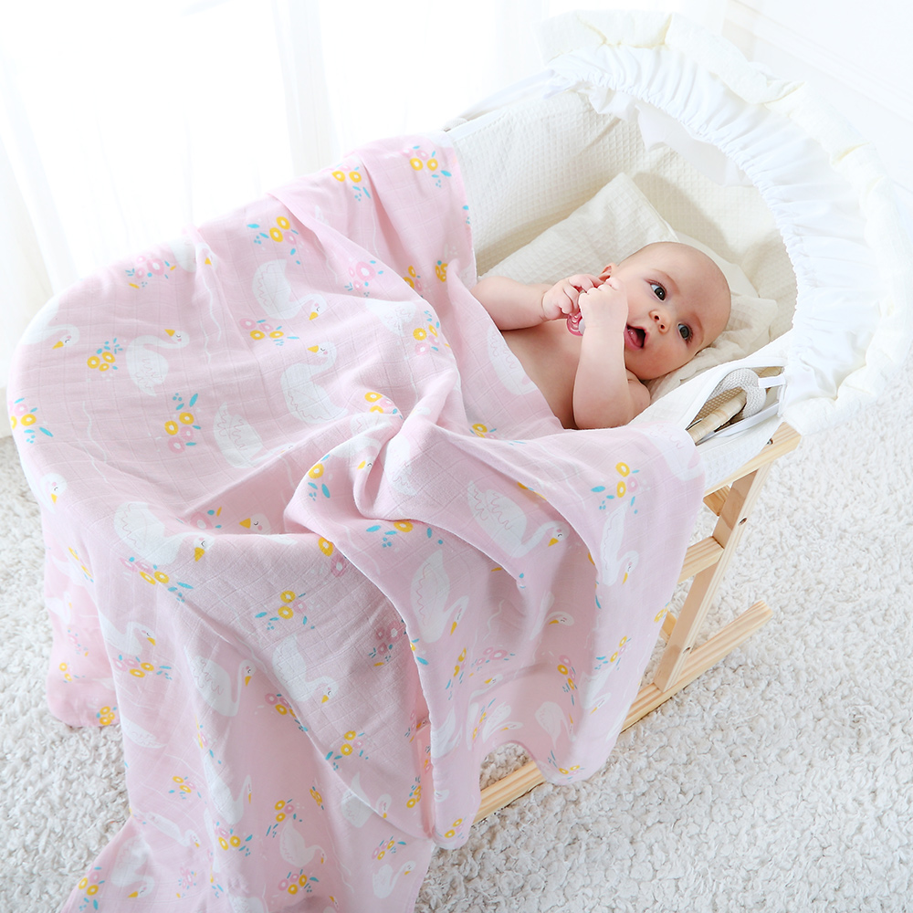 Baby Swaddle For Newborns Soft Breathable Cotton Bamboo Fiber Muslin Blanket For Children Multifunction Baby Wrap Nursing Cover