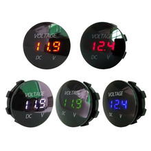 Hiyork Car Motorcycle DC 12V- 24V LED Panel Digital Voltage Meter Display Voltmeter Waterproof Gauge Meter For Auto Boat ATV UTV цены
