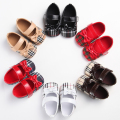 New Infant Gingham Toddler Fashion Newborn Baby Girl Princess Ballet Dress Prewalker 2017 Spring Shoes Crib Soft Baby shoes
