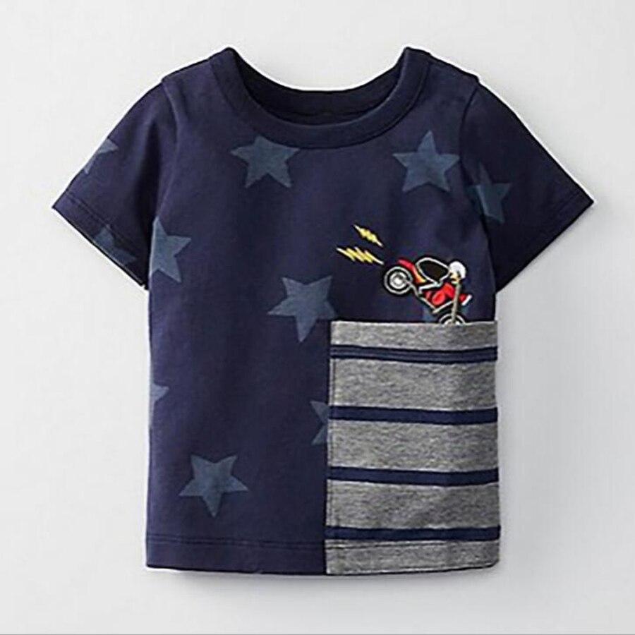 (18M-6T) 6pcs / 1lot Little Maven Kids Boys Girls Cotton Tshirt Cartoon Star Print Short Sleeve T-shirt Children Casual Tee Tops