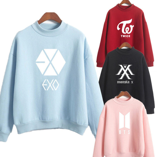 HENRY LEHMAN 2019 BTS Love Yourself Kpop Women Turtlenecks Hoodies Sweatshirts