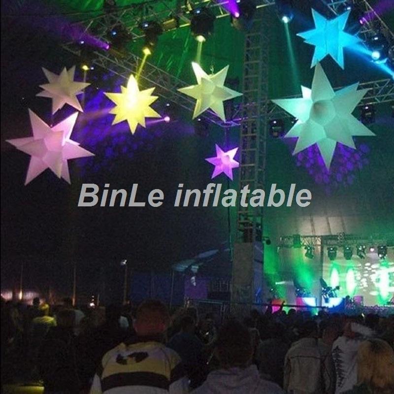 Offre spéciale gonflable LED éclairage 3D étoile suspendue pour la décoration de fête/mariage