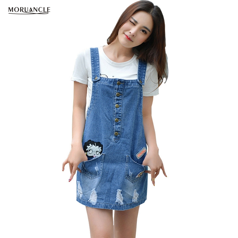 Jean Skirt Overalls Promotion-Shop for Promotional Jean Skirt ...